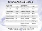 strong acids bases