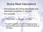 strong base calculations