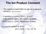 the ion product constant