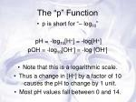 the p function