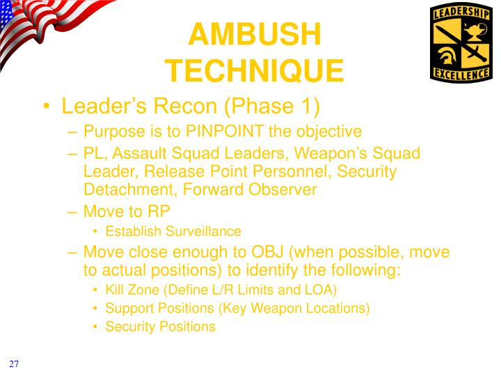 Leader's Recon (Phase 1)