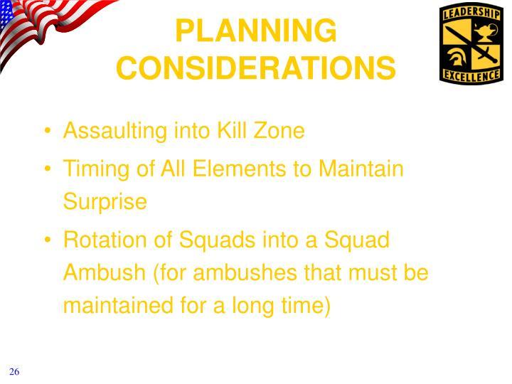 Assaulting into Kill Zone