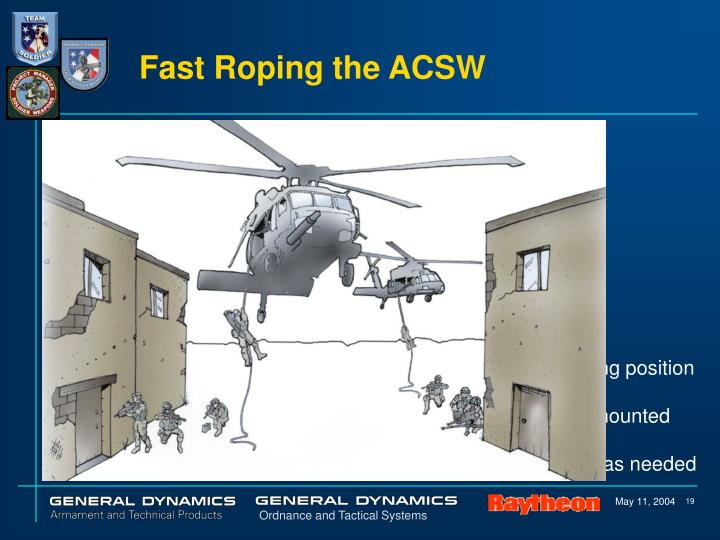 Fast Roping the ACSW