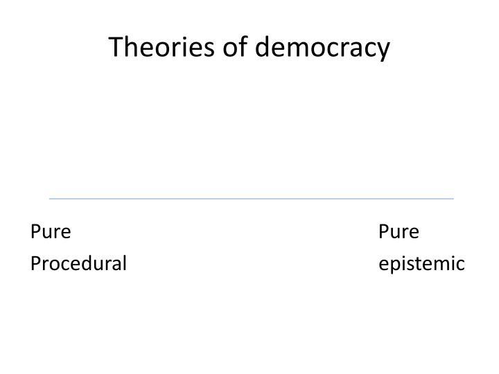Theories of democracy