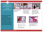 storyboard of one of the more recent advertisements