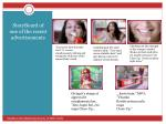 storyboard of one of the recent advertisements