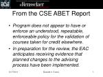 from the cse abet report3