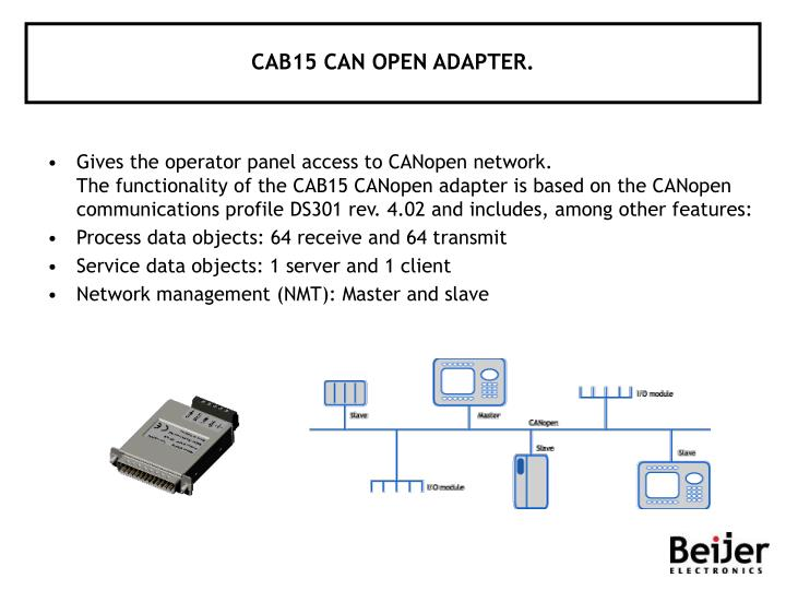 CAB15 CAN OPEN ADAPTER.