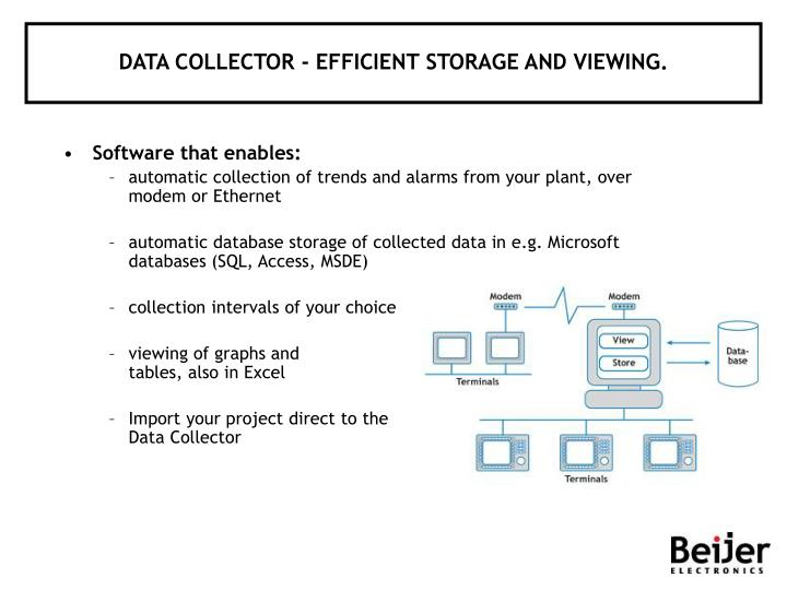 DATA COLLECTOR - EFFICIENT STORAGE AND VIEWING.