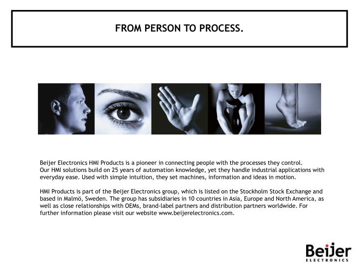 FROM PERSON TO PROCESS.