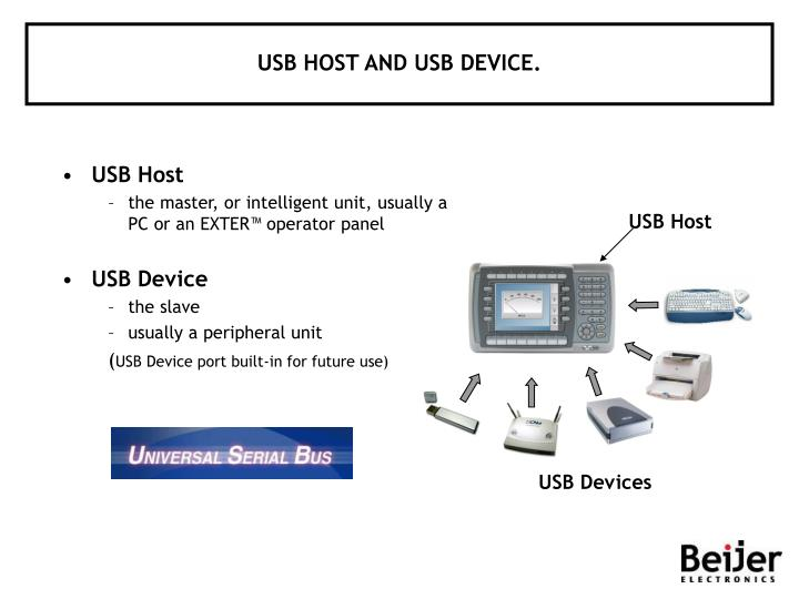 USB HOST AND USB DEVICE.