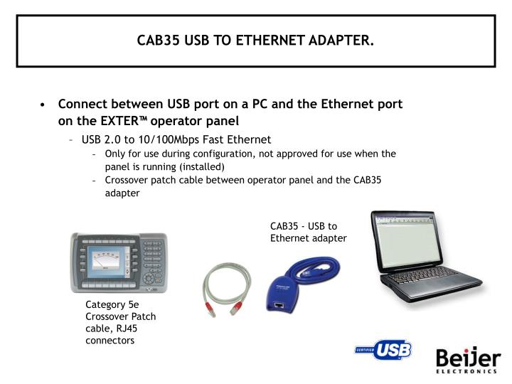 CAB35 USB TO ETHERNET ADAPTER.