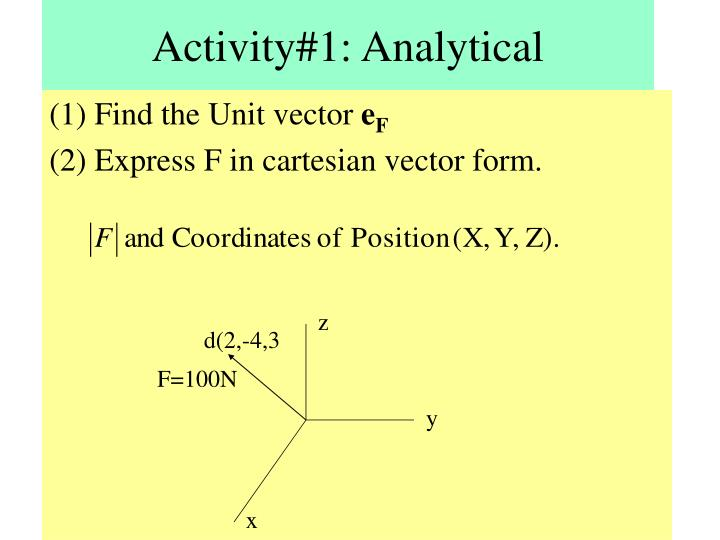 Activity#1: Analytical