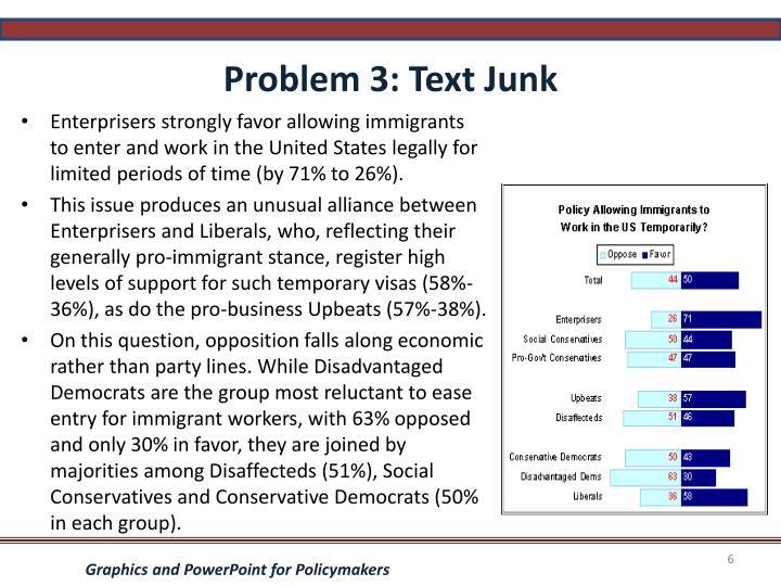 Problem 3: Text Junk