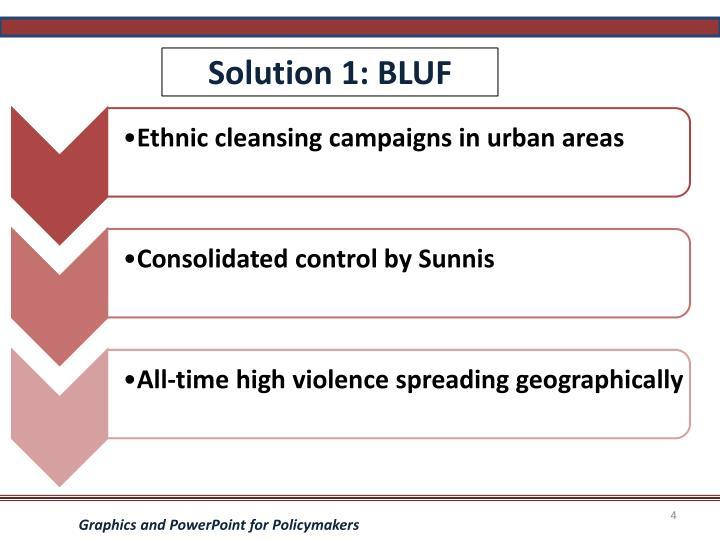 Solution 1: BLUF