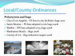 local county ordinances