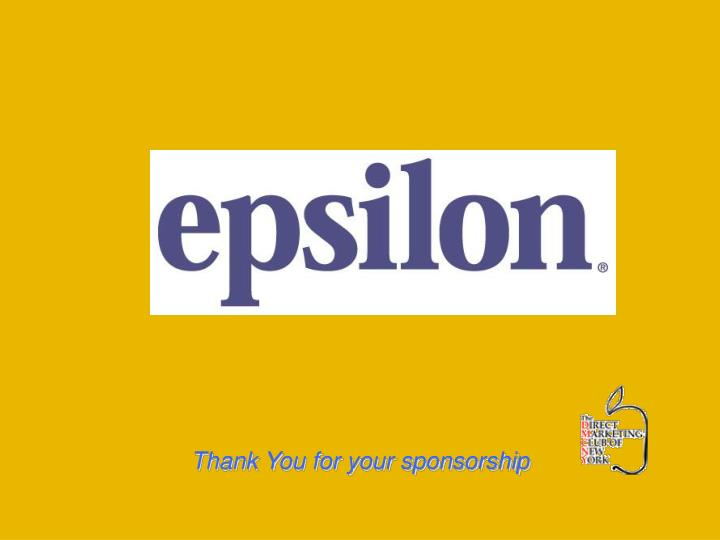 thank you for your sponsorship n.