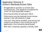 application scheme 3 uniform workload across sites