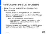 fibre channel and scsi in clusters