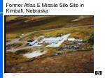 former atlas e missile silo site in kimball nebraska