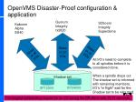 openvms disaster proof configuration application