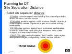planning for dt site separation distance1