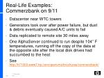 real life examples commerzbank on 9 11
