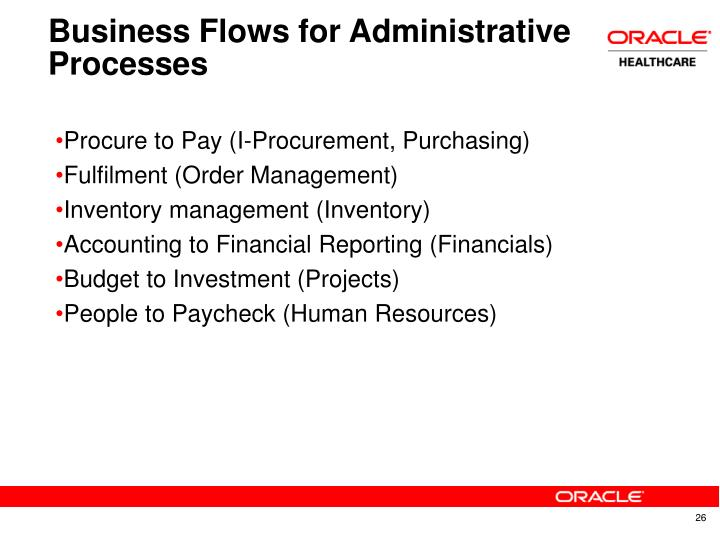 Business Flows for Administrative Processes