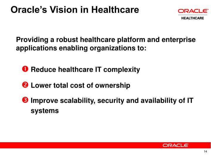 Oracle's Vision in Healthcare