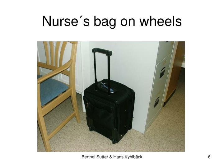 Nurse´s bag on wheels