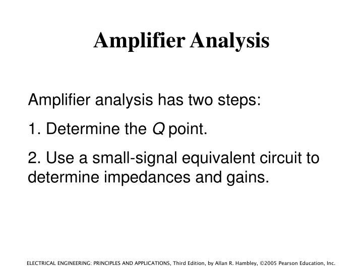 Amplifier Analysis