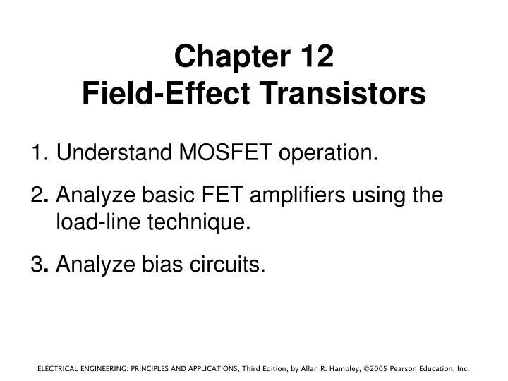 Chapter 12 field effect transistors1