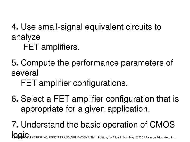 Chapter 12 field effect transistors