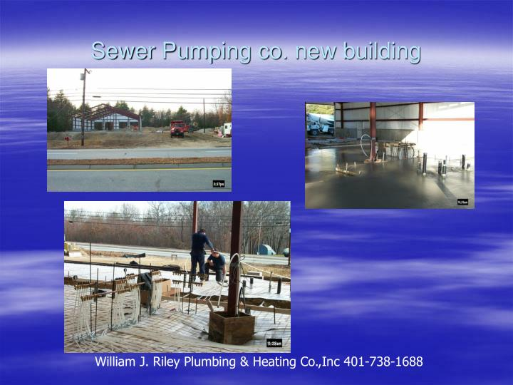 Sewer pumping co new building