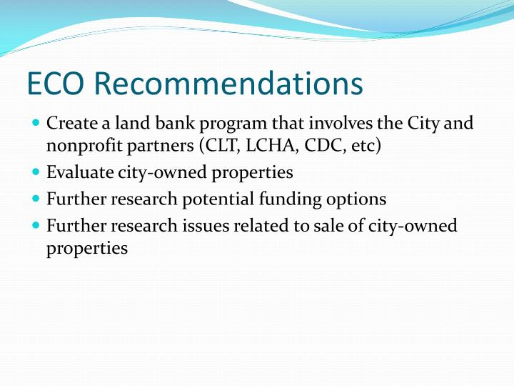 ECO Recommendations