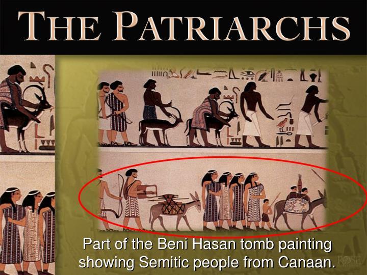 Part of the Beni Hasan tomb painting