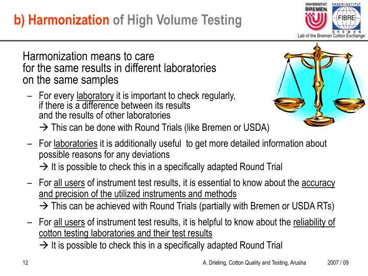 b) Harmonization