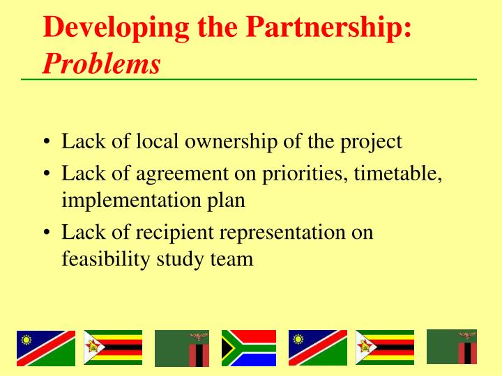Developing the Partnership:
