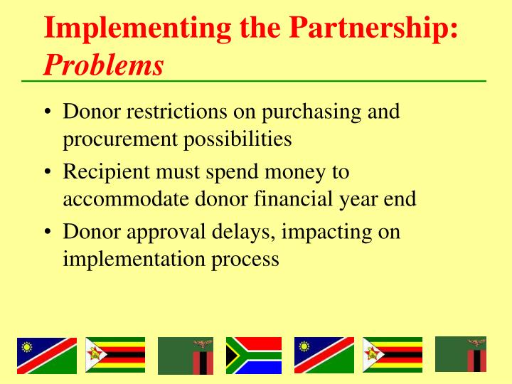 Implementing the Partnership: