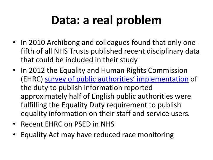 Data: a real problem