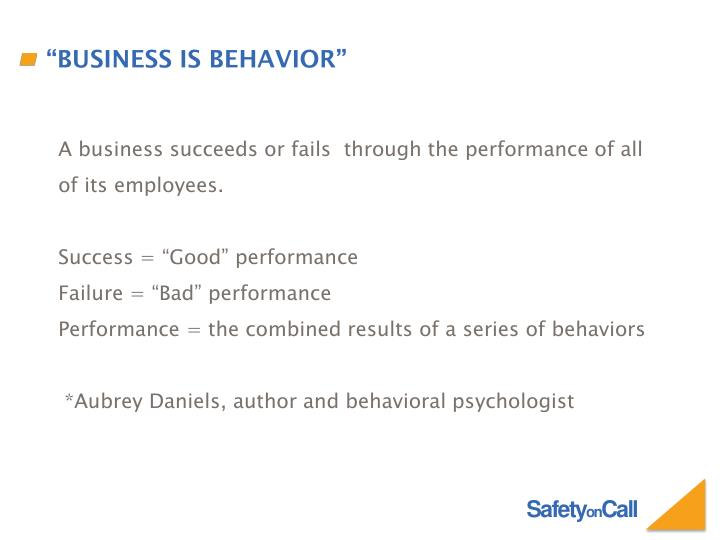A business succeeds or fails  through the performance of all of its employees.
