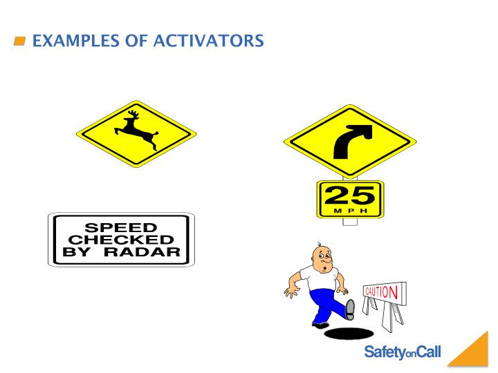 Examples of Activators