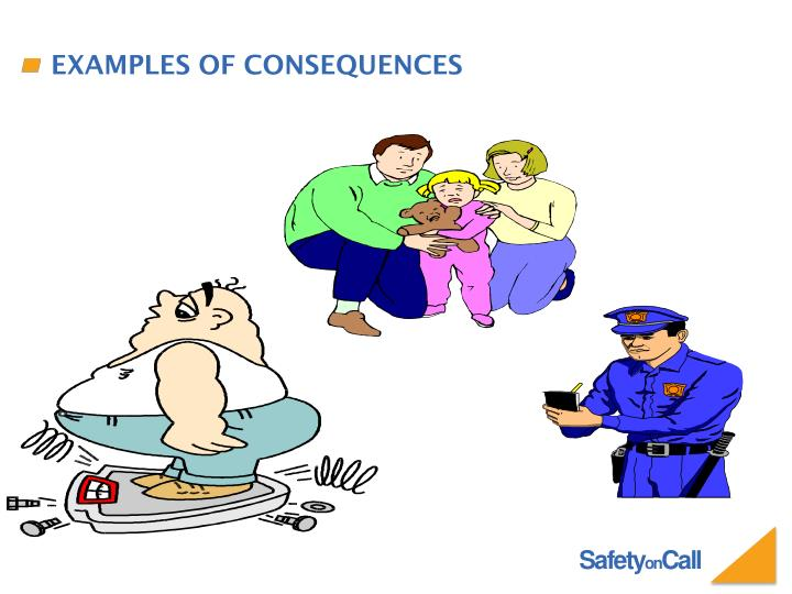 Examples of consequences