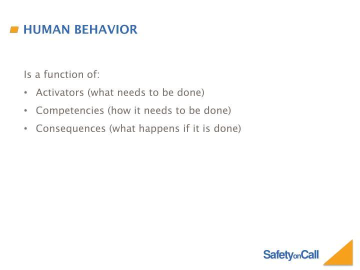 Human behavior