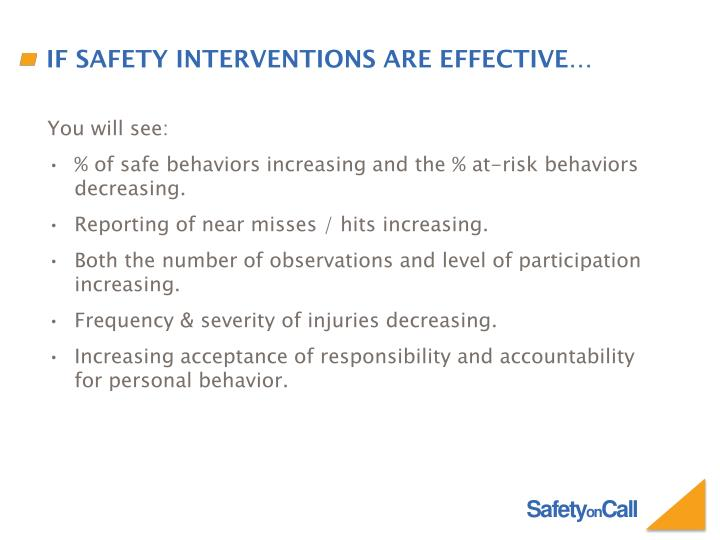 If safety interventions are effective…