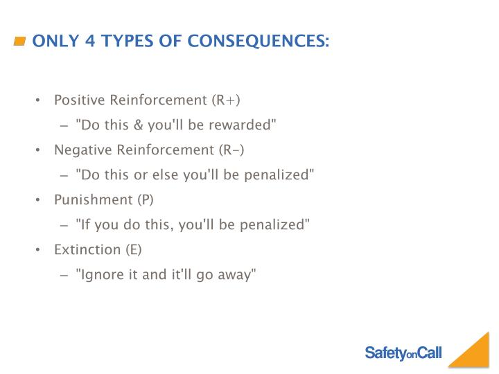 Only 4 Types of Consequences: