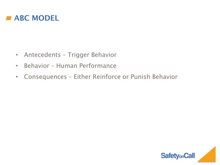 Antecedents – Trigger Behavior