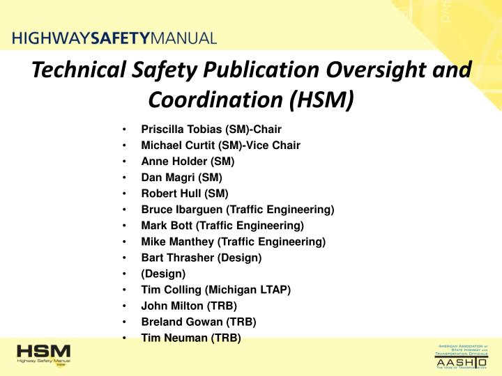 Technical Safety Publication Oversight and Coordination (HSM)