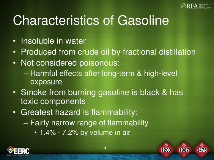 Characteristics of Gasoline