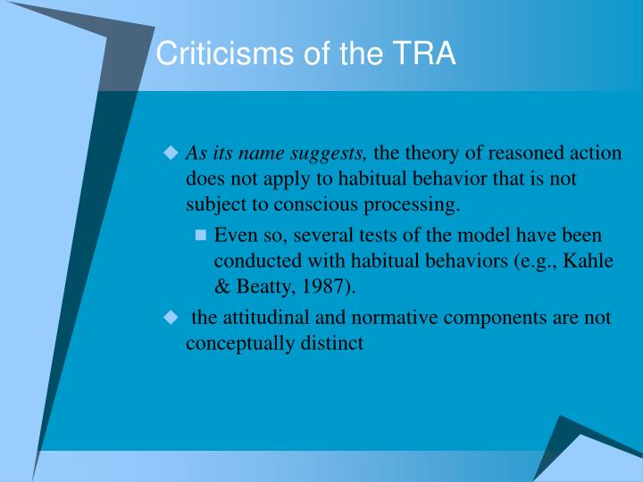 Criticisms of the TRA